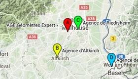 plan d'accès AGE Géomètres Experts
